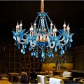 Moderne blaue glas kristall kronleuchter beleuchtung klassische kristall lampe Cafe Restaurant kristall Kronleuchter luxus modernen lampen|Kronleuchter|Licht & Beleuchtung -