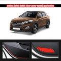 Inside Car Door Cover 4D Carbon Fiber Fabric Kick Pad Sticker For  Hyundai Tucson 2015 2016 4pcs per lot