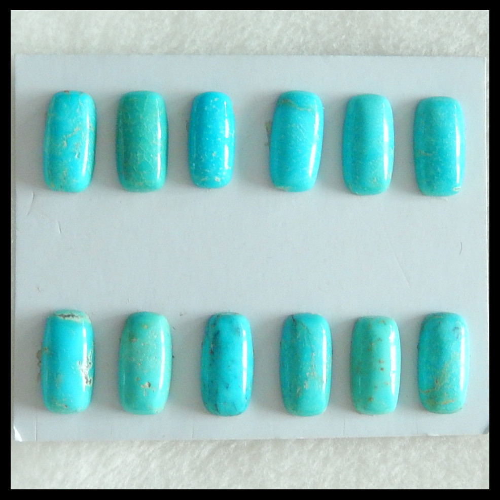 12 PCS Of Natural Turquoise fashion necklace pendant Cabochons,14x7mm,7.83g 6 pcs of carved lapis lazuli fashion pendant cabochons 20x5mm 26 7g
