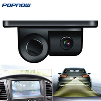 2018 Parktronic Eunavi 2 In 1 Car Parking Sensors Rear View Backup Camera Universal High Clear Night For Vision Reversing Radar