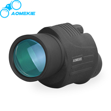 On sale AOMEKIE HD 10X40 Monocular Telescope Compact High Power Wide Vision Camping Bird Watching Telescope Full Coated Optical Lens