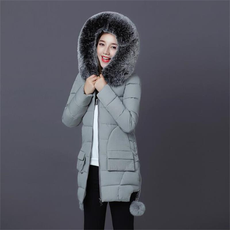 2017 New Arrival Winter Jacket Women Coat Long Parka Female Warm Overcoat Ladies Large Fur Collar Thicken Jackets for women 2014 new arrival rushed full women winter luxurious overcoat raccoon fur collar medium long hooded down jackets thicken coat ems