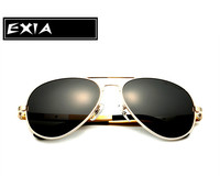 Sun Glasses Male TAC Polarized Lenses with Gold Color of Frame Aluminium Magnesium EXIA OPTICAL KD-505 Series