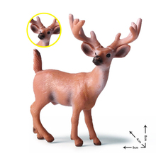 plastic toy deer Action Toy Figures Childrens Simulation Wild Deer Animal Toys Model Set anime toys for girls boys kids home