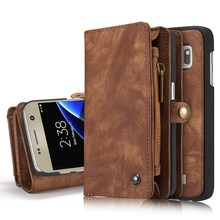 Caseme Luxury Flip Leather Case For Samsung Galaxy S7 S7edge Card Slots Wallet Magnet Removable Phone Cover Fundas Accessories(China)