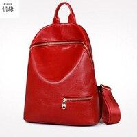 XIYUAN BRAND Women Back Pack Bag Japan Korea Teenage Student School Travel BLACK Bagpack Girls PU