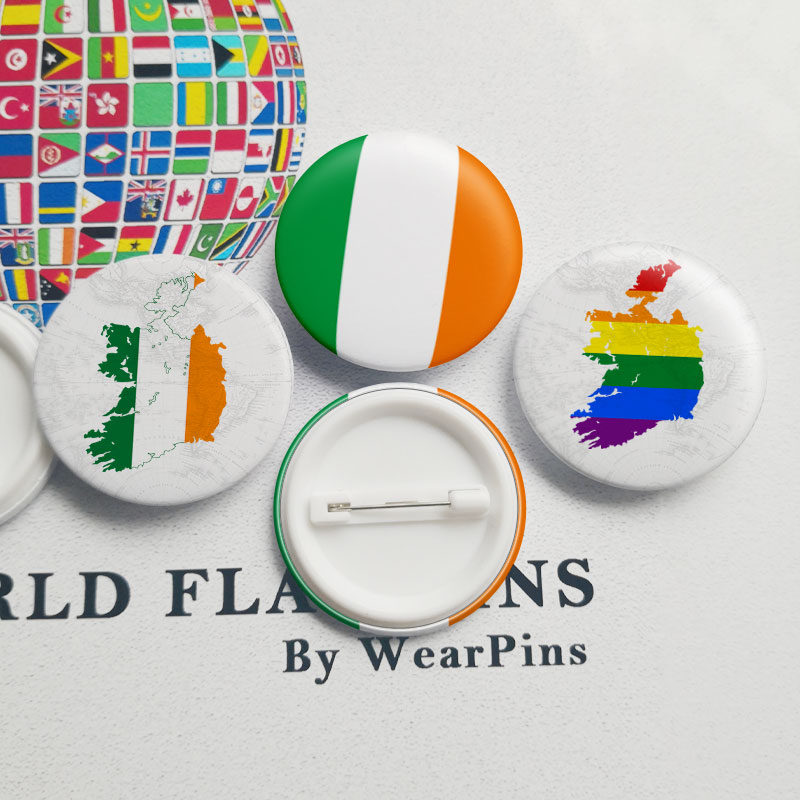 Arts,crafts & Sewing U.s.a Ireland Friendship Flag Metal Pin Badges For Clothes In Badges Button On Brooch Plating Brooches For Jewelry Xy0271