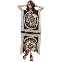 T Stage Geometric Print Summer Women Dress New Arrival 2015 Vestidos Casual Female Maxi Dresses O
