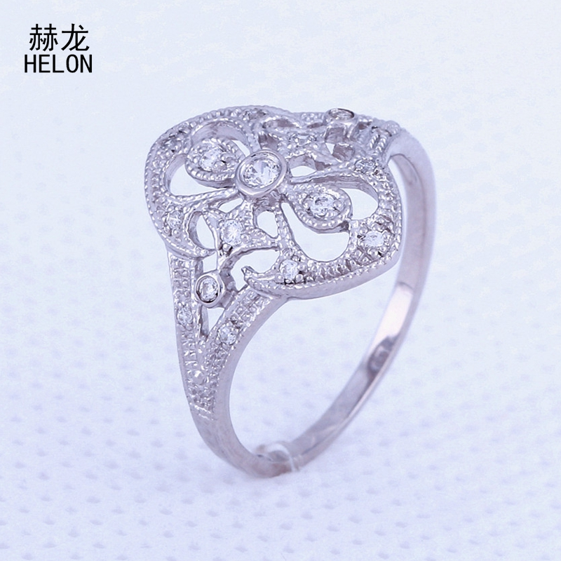 925 Sterling Silver Engagement Wedding Women Ring Luxury Filligree Millgrain Art Nouveau Jewelry Cubic Zirconia CZ Jewelry Ring серьги art silver art silver ar004dwzmh30