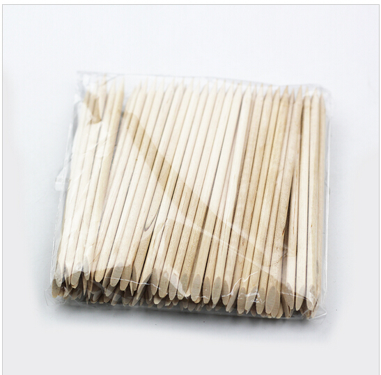 1pack Nail Art Orange Wood Stick Cuticle Pusher Remover Nail Art Tool