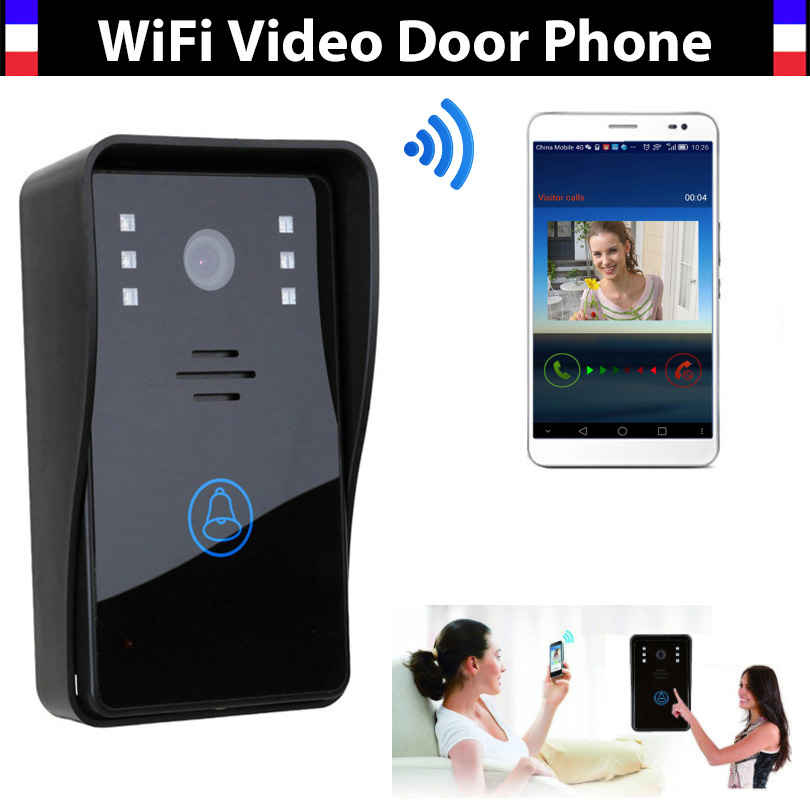 New Wifi video door phone doorbell Wireless video doorphone Intercom for iPad Smart Phone Tablet remote Unlock Intercom