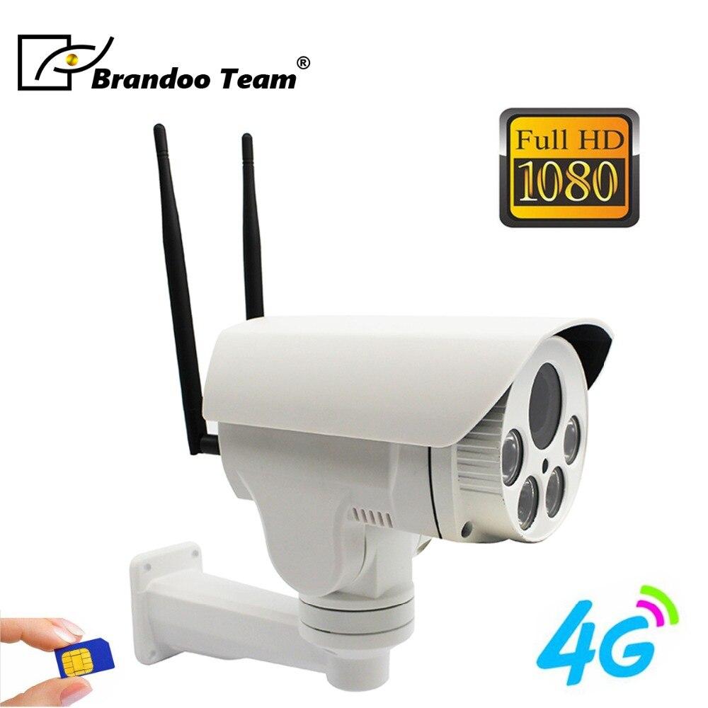 Caméra 4G sans fil dôme PTZ extérieur 2MP