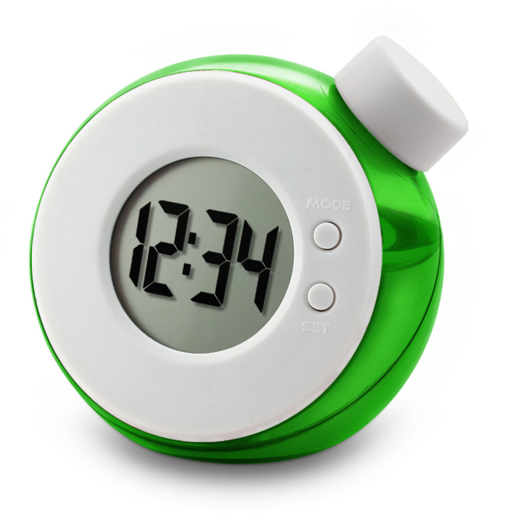 LED Mini Digital Clock Creative Smart Water Magic Element Water Power No Need Battery Stopwatch Clock Home Decor Table Clock