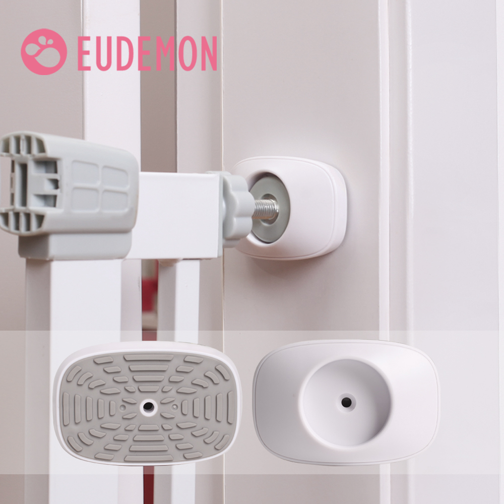 EUDEMON 2pcs Of Pet Gates Wall Guard Safe Wall Bumpers Guard Wall Protector Cups Pads For Pressure Gate Door Stairs