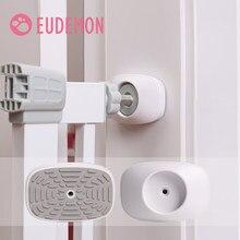 Eudemon protetor de parede para gatos, 2 peças de proteção seguro, para parede, copos de proteção para porta de pressão escadas