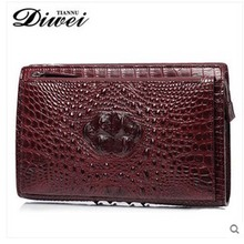 diwei men handbag 2017 new hot free shipping real crocodile leather clutches large capacity business casual hand holding men bag