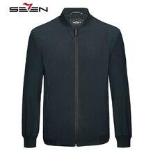 Seven7 Новинка мужская куртка повседневная куртка-бомбер тонкая однотонная мужская весенне-осенняя мужская верхняя одежда с воротником-стойкой
