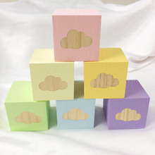 Nordic Style Wood Cloud Square Ornaments Home Decoration Acc
