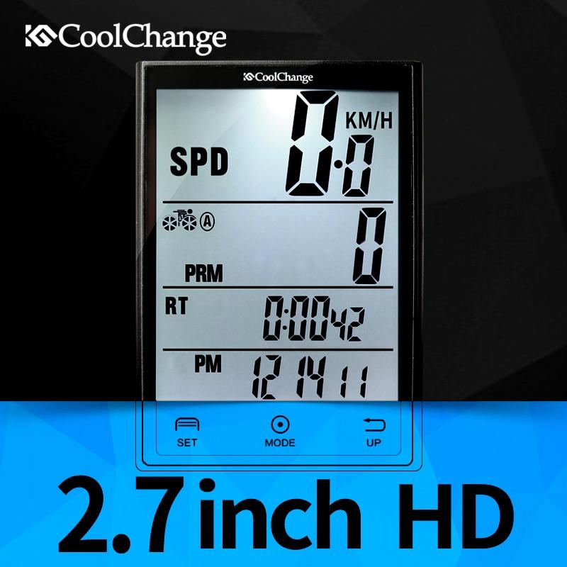 купить  CoolChange Wireless Bike Computer Speedometer Odometer Rainproof  Cycling Bicycle Computer Bike Measurable temperature Stopwatch  недорого