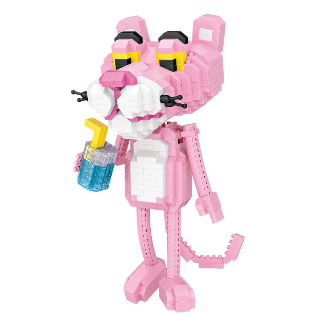 new LOZ Pink Panther Anime Diamond Building blocks Compatible With  educational toys for children