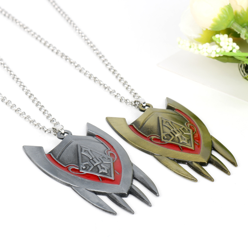 HANCHANG Jewelry Game <font><b>League</b></font> <font><b>Legend</b></font> LOL The Dragon Shyvana Shield Weapon Model Pendant Necklace <font><b>Cosplay</b></font> Accessories Gift For <font><b>Men</b></font> image
