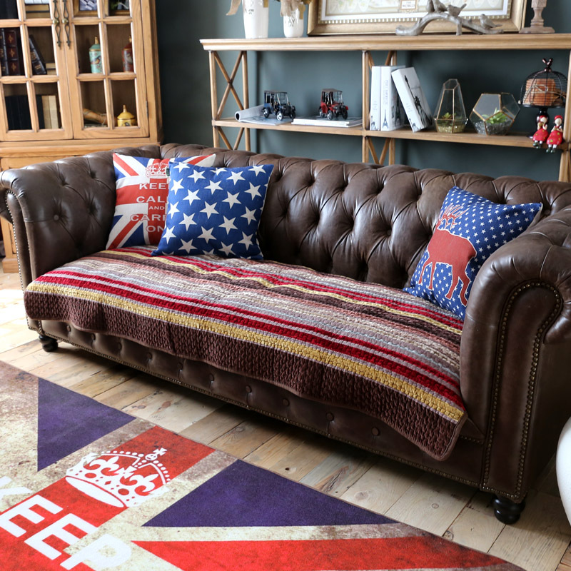 Reversible Velvet Sofa Cover Furniture Protector Strip