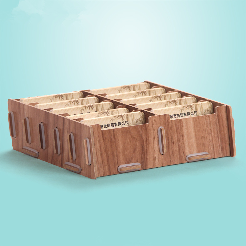 Creative Bamboo Wooden Bussiness Card Holder Wood Handiwork Desktop Type Holder Name Card Box