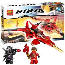 196pcs Bela Ninja 10219 Kai Fighter General Cryptor white flame Warrior Building Compatible With Lego