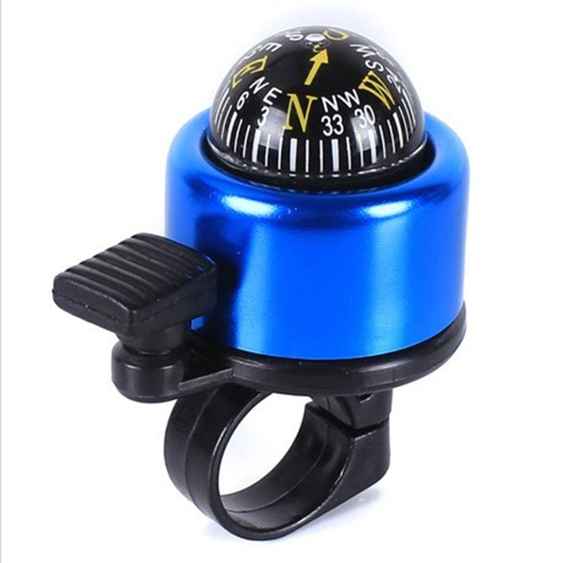 Multi Colors Aluminum Alloy Bicycle Bell With Compass Bike Alarm Horn Mountain Accessories