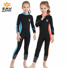 2.5mm Kids Neopreen Duikpakken Full Body Warm badpak Thermische Badmode Voor Meisjes & Jongens Surf pak Snorkelen Rash guard(China)