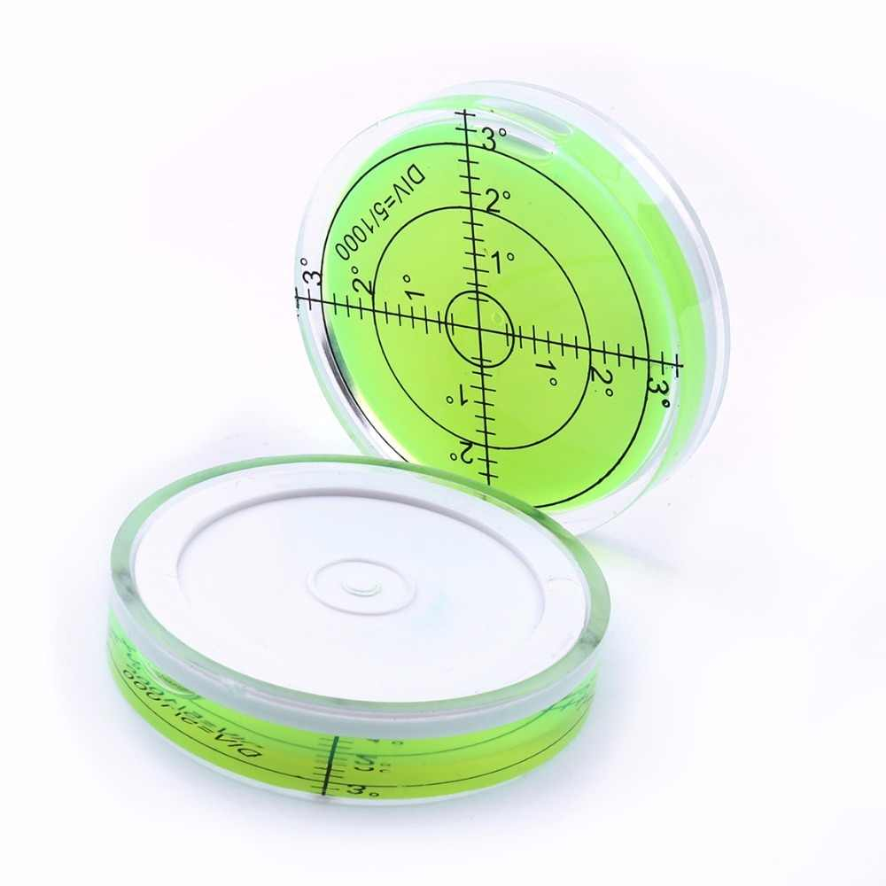 Universal Hot Circular Level Bubble Green Bullseye Spirit Level Round Bubble Level Measuring Instruments Tool 60x12 mm