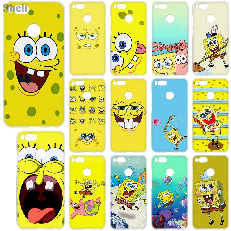 Half-wrapped Case Orderly Sheli Cartoon Spongebob Squarepants Hard Phone Case For Xiaomi 5x A1 Redmi Note 4x 5a 5 Pro Redmi 4a 4x 5a 5plus 6a 9 8 Note7