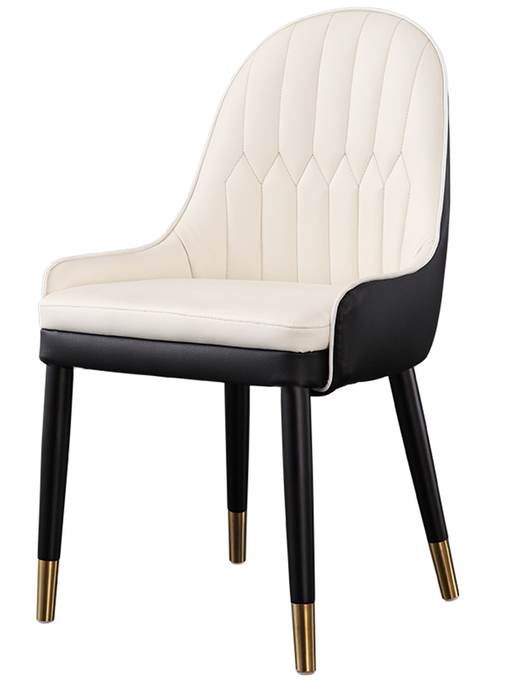 Solid Wood Dining Chair Home Postmodern With Backrest Soft Bag