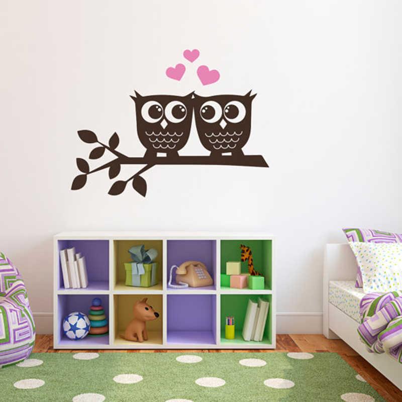 YOYOYU 40 cores adesivos de parede de Vinil para crianças muraux Coruja No Amor Removível decalque Da Parede do Quarto sala de estar Decoração Da Parede ZX180