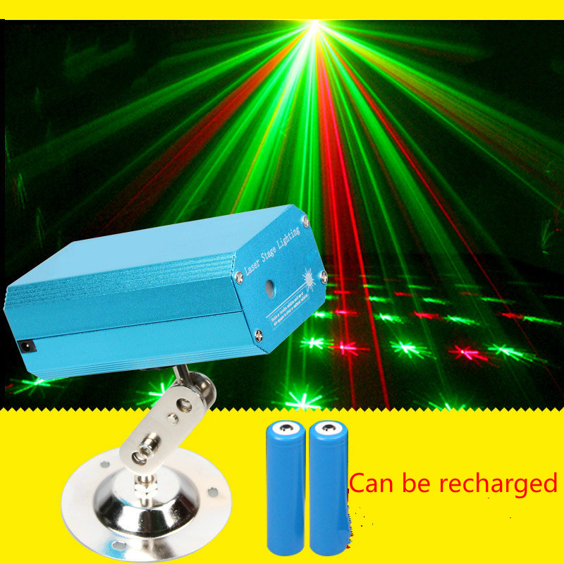 Portable rechargeable mini laser stage lighting outdoor sound Mantianxing new multi pattern light gathering