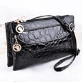 European Double Zipper Women Wallet Stone  Purse Carteira Feminina Lady Clutch Wristlet Bag Wallets