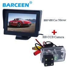 Размещение В Тире автомобиля задний монитор с оригинальным led автостоянка камера для Peugeot 206/207/407/307 (Седан)/307SM