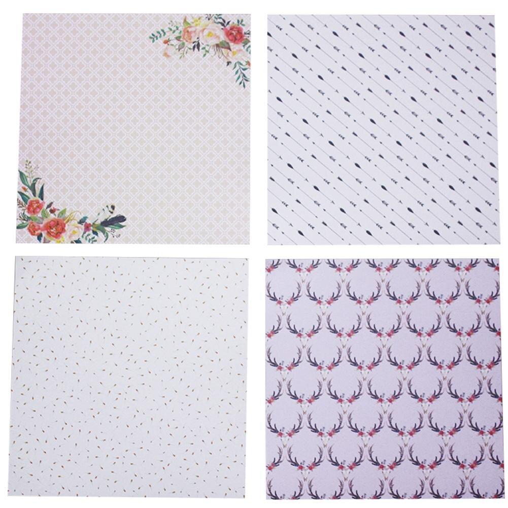 24 stcke diy album sammelalbum pads papier hand konto karte der hintergrund papier 6 zoll - Bastelpapier Muster