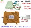 Conjunto completo Repetidor de Doble Banda GSM 850 4G LTE 1800 FDD 65dB de Ganancia CDMA 850 mhz DCS 1800 mhz Móvil Celular amplificador de Señal Del Amplificador