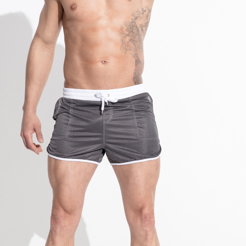 Men's Mesh Simple Board shorts  Swim Lose Trunks