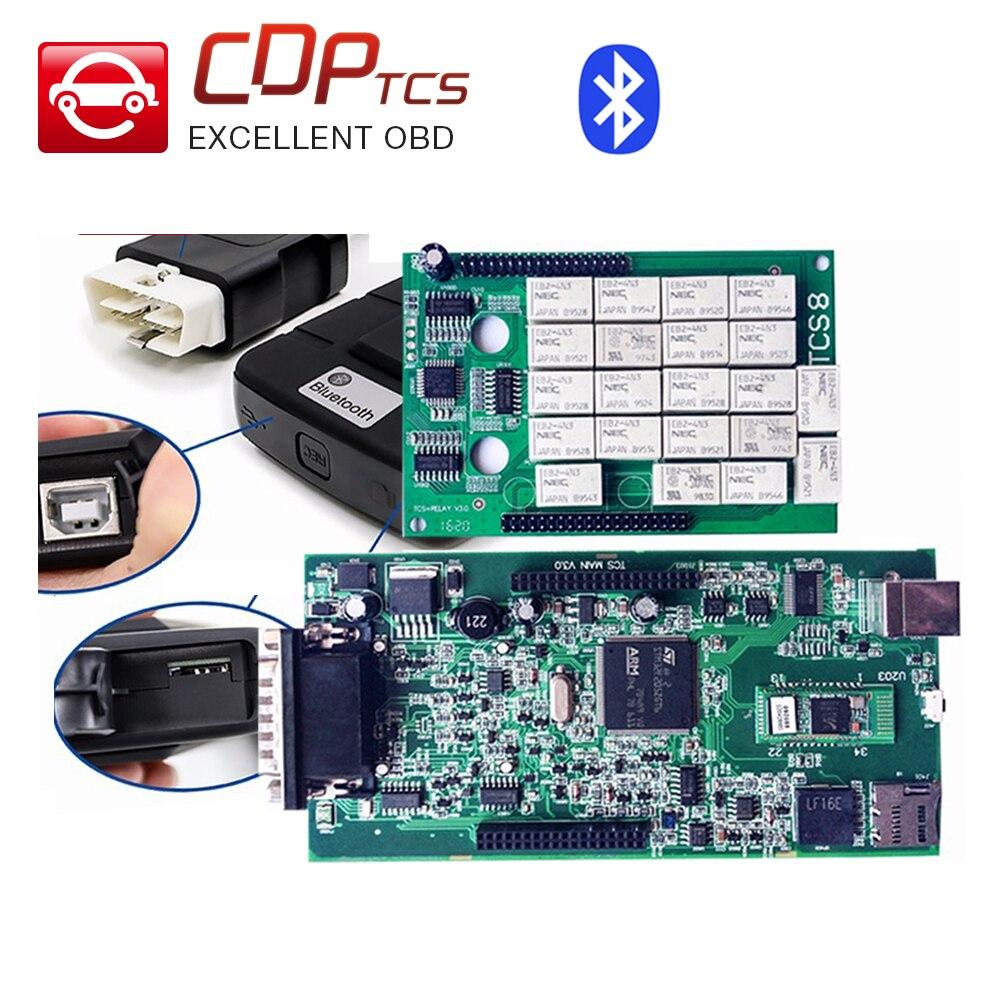 Prix pour Chaude VVOVV TCS pro vert conseil Avec bluetooth et Aucun bluetooth en option OBD2 OBDII auto scanner dignostic outil mieux que cdp tcs