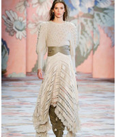Для женщин 2018 осень/зима неукротимая Wool blend Sweater круглый вырез расширенный кабель вязать манжеты мягкая безделушка цвета слоновой кости шер