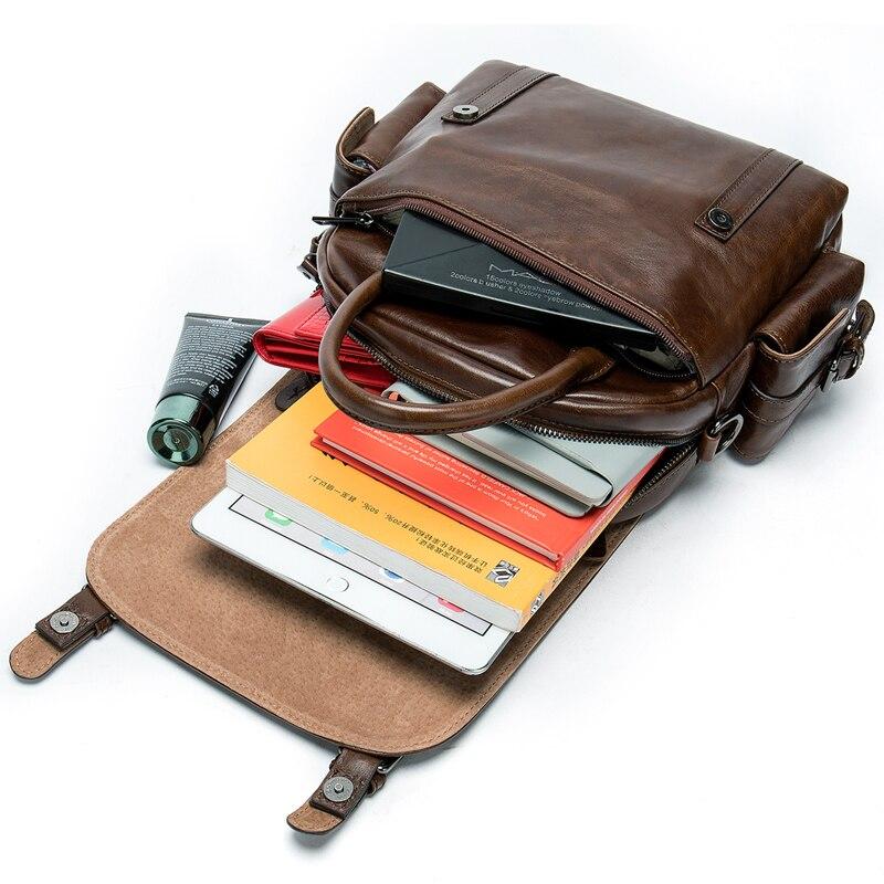 WESTAL maschio piccolo sacchetto di cuoio dello zaino per gli uomini di sacchetto di scuola zaino da viaggio ipad sacchetto di bussiness per studente pacchetto della spalla 9546-in Zaini da Valigie e borse su  Gruppo 3