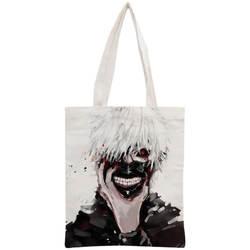 На заказ Токийский Гуль сумка многоразовая сумка на плечо сумка складная хлопковая парусиновая сумка для покупок настроить ваш образ