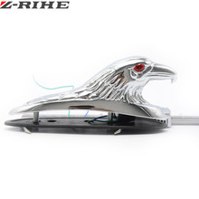цена на Motorcycle Bike Front Fender Mudguard Ornament Eagle Head Statue Fender Bonnet Emblem Motorbike ATV Dirt Bike Universal Motors