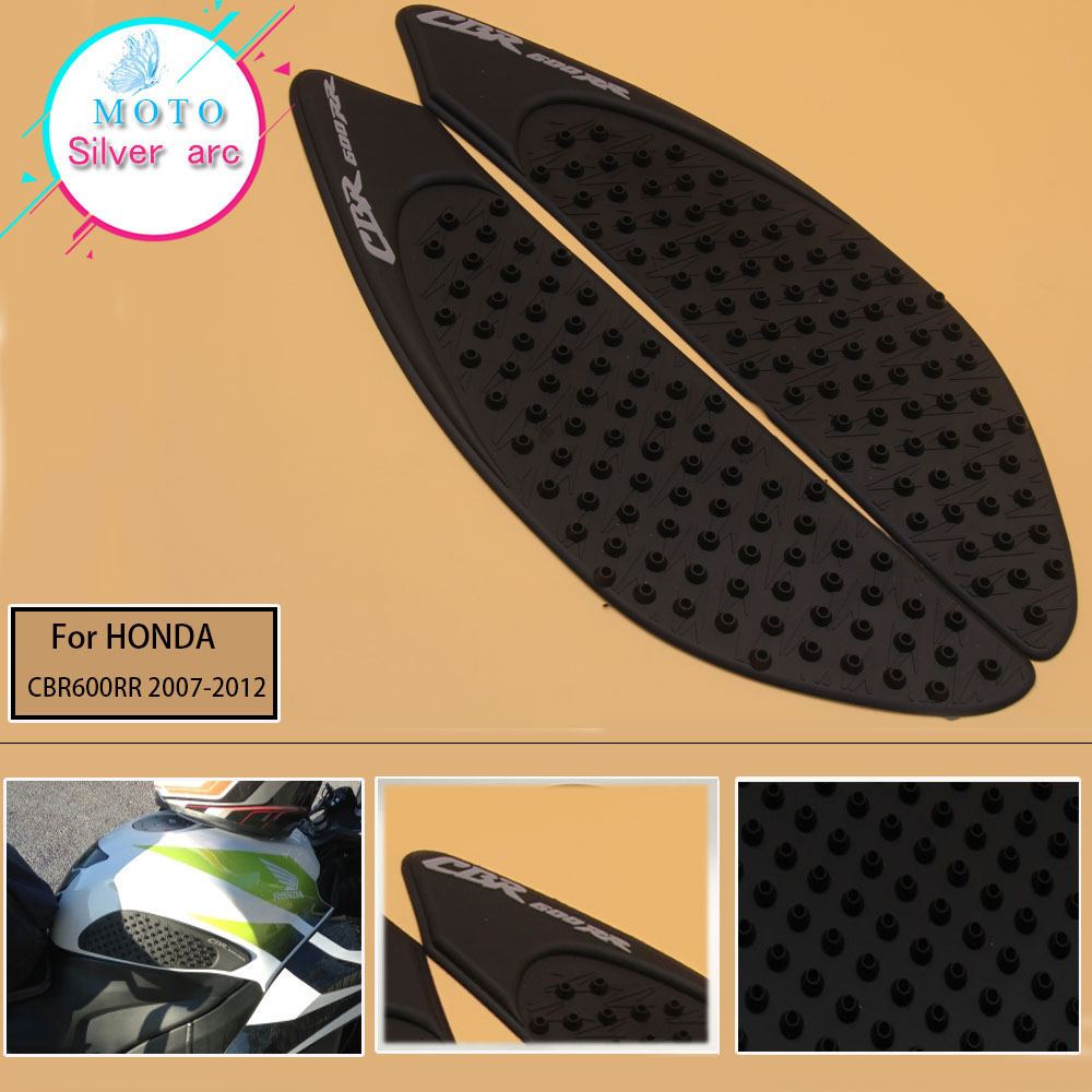 Tank Pad Protector Sticker Decal Gas Knee Grip Tank Traction Pad Side  For Honda CBR600RR CBR 600 RR 2007 2008 2009 2010-2012