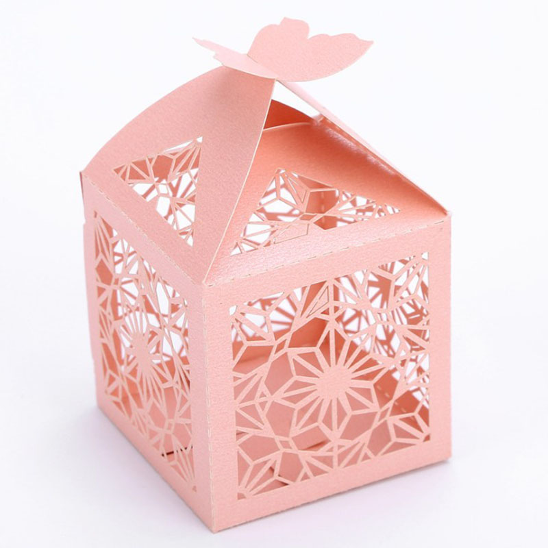 Multi-color Customizable Wedding Favor Candy Boxes Wedding Dragees Box Candy Bag Home Party Decorations 50pcs