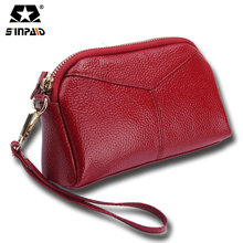 Real Genuine Leather Women Wallets Brand Design High Quality 2017 Cell phone Card Holder Long Lady Wallet Purse Clutch-5