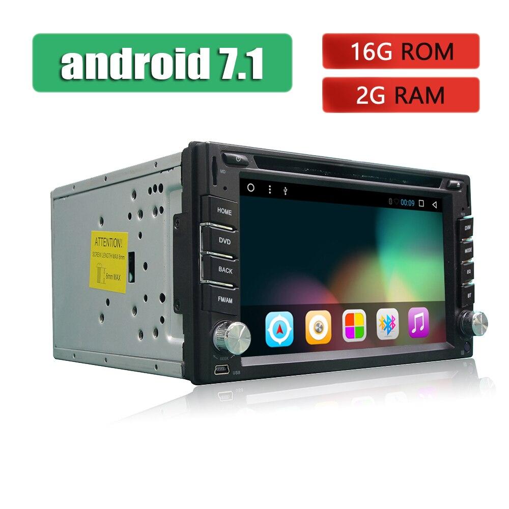 Autoradio 2 Din GPS Android Autoradio Bluetooth ecran tactile Autoradio USB SD iPhone iPod MP3 TV dans tableau de bord lecteur DVD voiture