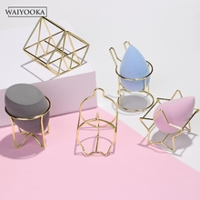 2Pcs Makeup Beauty Egg Powder Puff Sponge Display Stand Practical Cosmetic Storage Tool Drying Stand Holder For Dressing Table